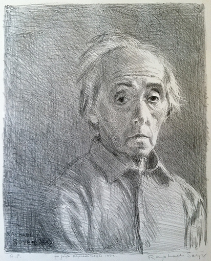 Raphael Soyer, Self Portrait, 1975