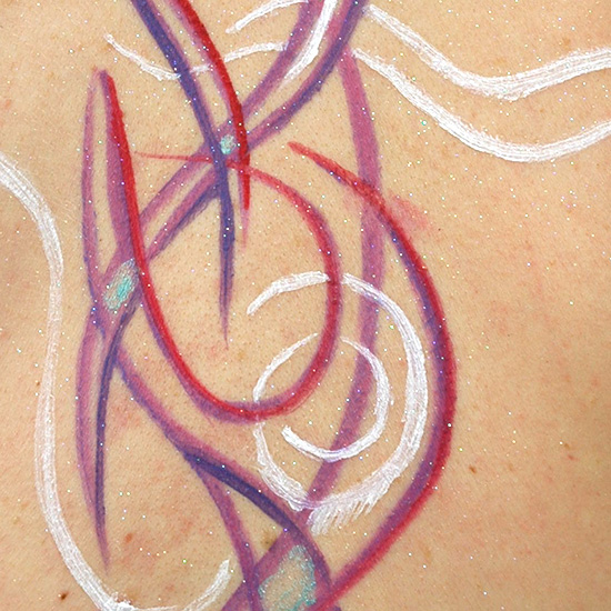Arcs (detail), 2005, body painting and photo by Fred Hatt