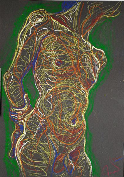 Lines of Energy on a Torso, 2006, by Fred Hatt