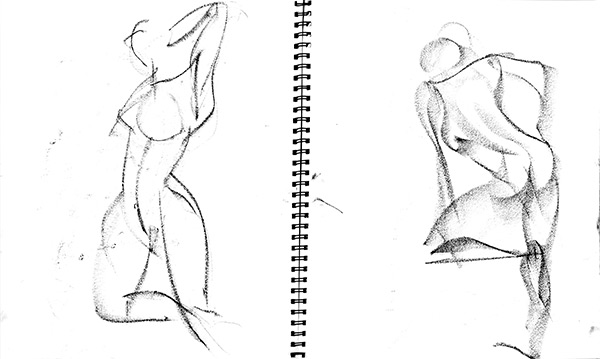 Snoo quick poses 4, 2013, by Fred Hatt