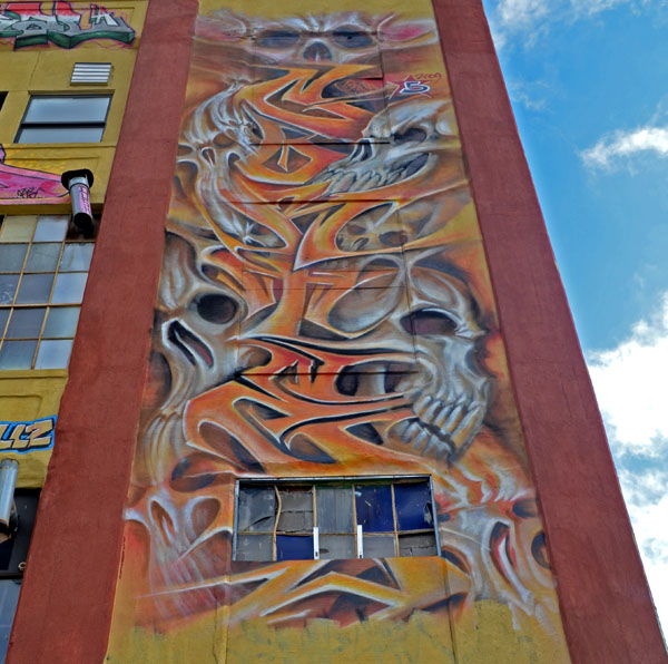 Mural by Cortes, 5 Pointz, photo by Fred Hatt