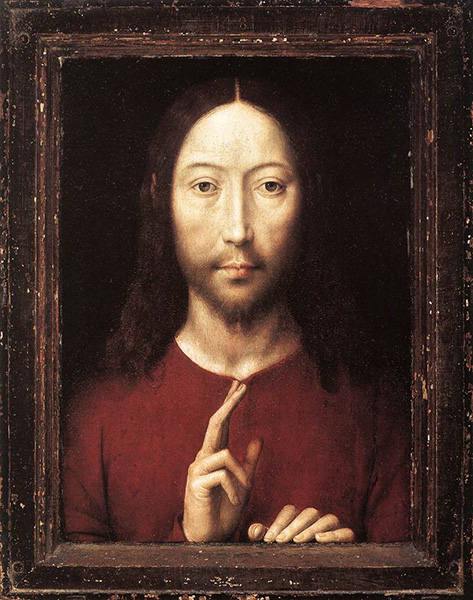 Christ Giving His Blessing, 1481, by Hans Memling