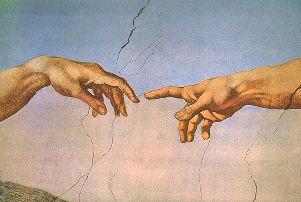 The Creation of Adam (detail), 1512, by Michelangelo Buonarroti