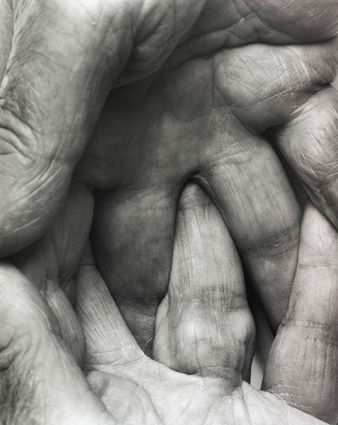 Interlocking Fingers No. 6,  1999, photo by John Coplans