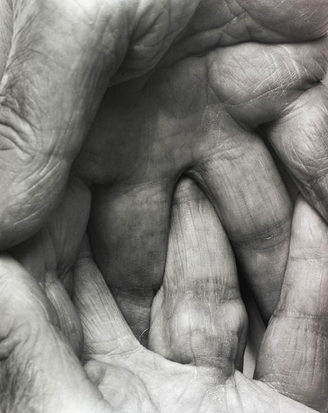 Interlocking Fingers No. 6,  1999, photo by John Coplans