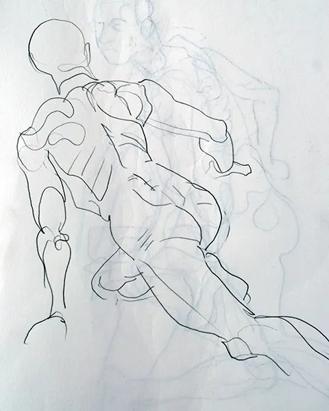 Yizroel quick pose, 2009, by Fred Hatt
