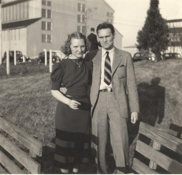 Marjorie Samuels (left) with her husband Bill Samuels Sr. She joins her husband in the Bourbon Hall of Fame.