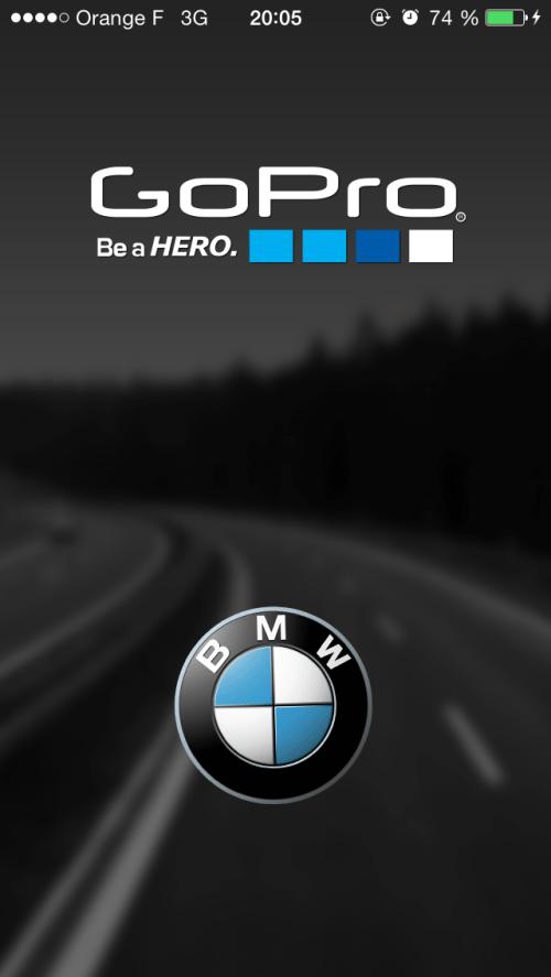 GoPro BMW : Ecran de l'iPhone