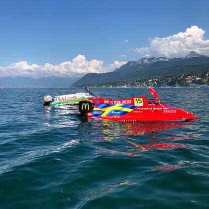 F1 H2O - F1 Team Sweden et Abu Dhabi nous saluent depuis leurs bateaux