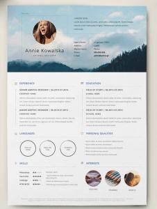 CV Créatif et plein de couleurs