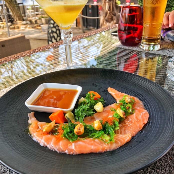 Besame Mucho - Entrée Tiradito de Salmon en Tamarindo