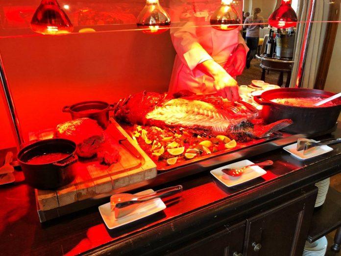 Brunch à l'hôtel Ermitage : Les plats chauds