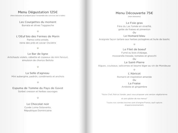 Restaurant Les Fresques - Menu Découverte et Menu Dégustation