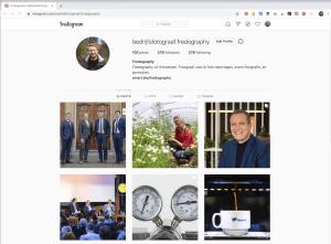 Bedrijfsfotograaf Fredography op Instagram