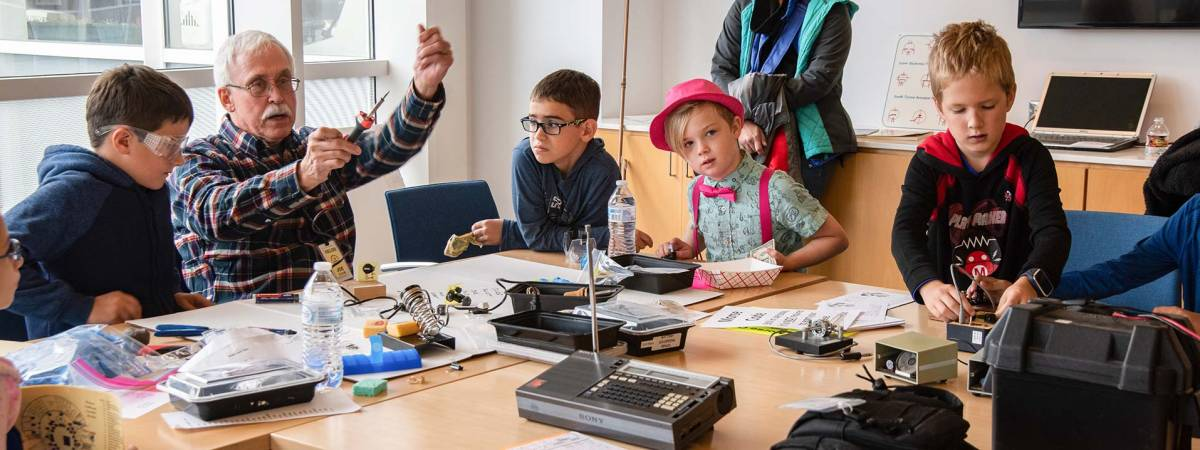 Kids learn about amateur radio and soldering