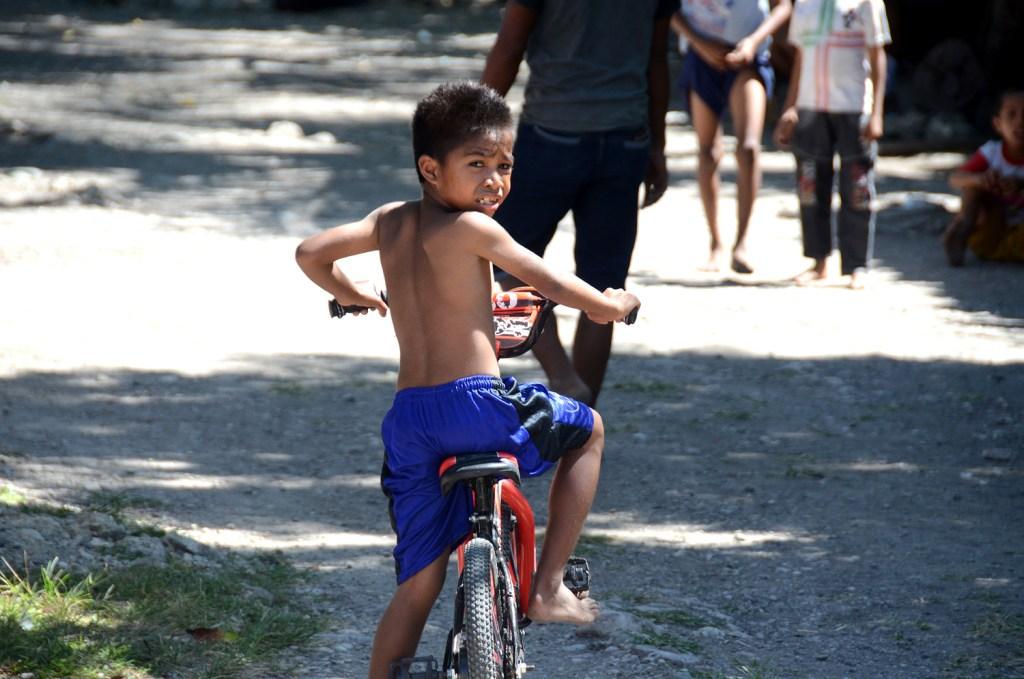 The boy on his bike