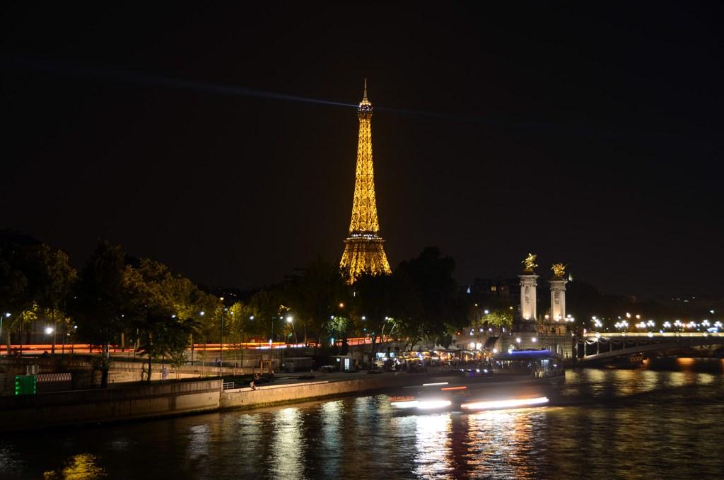 Eiffel on fire