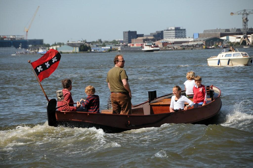 Family boat trip