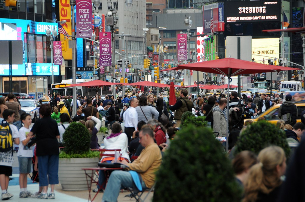 Time square crowd