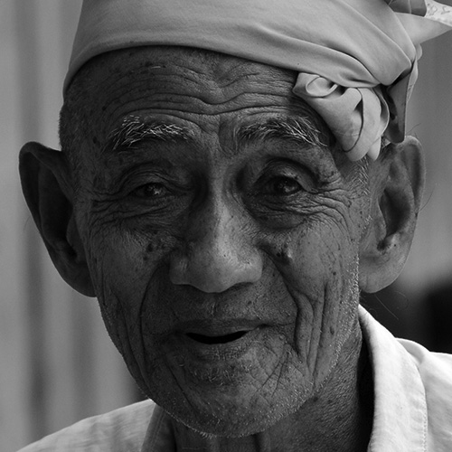 Old displaced man in Maguindanao