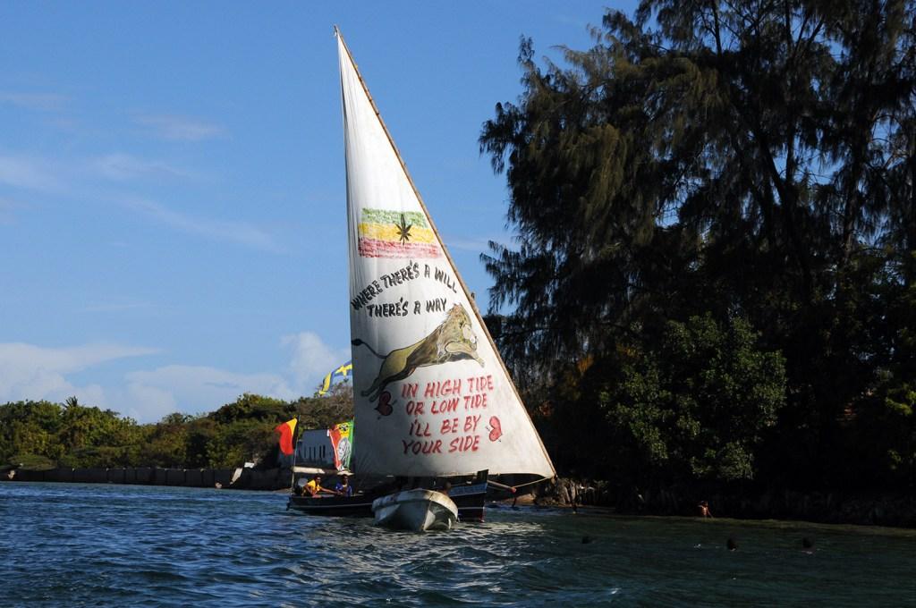 Boat in Lamu, Kenya, 2011