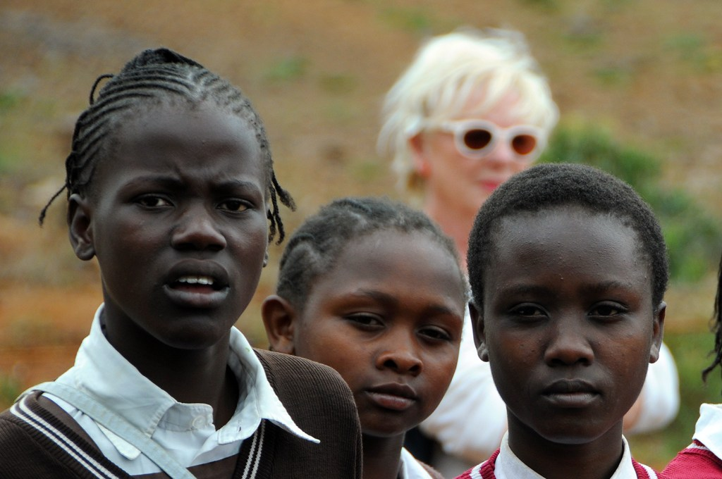 Three kenyan children