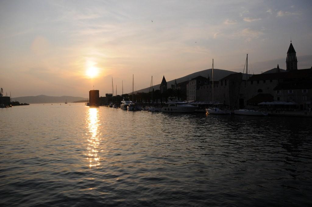 Sunset over Trogir