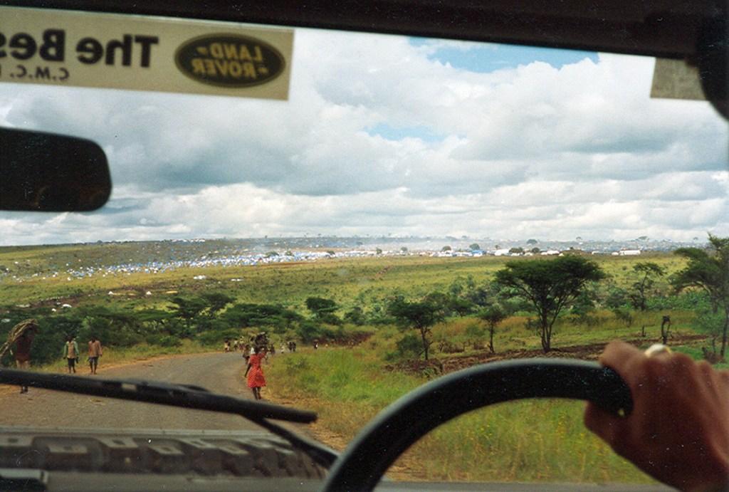 arriving at benaco camp