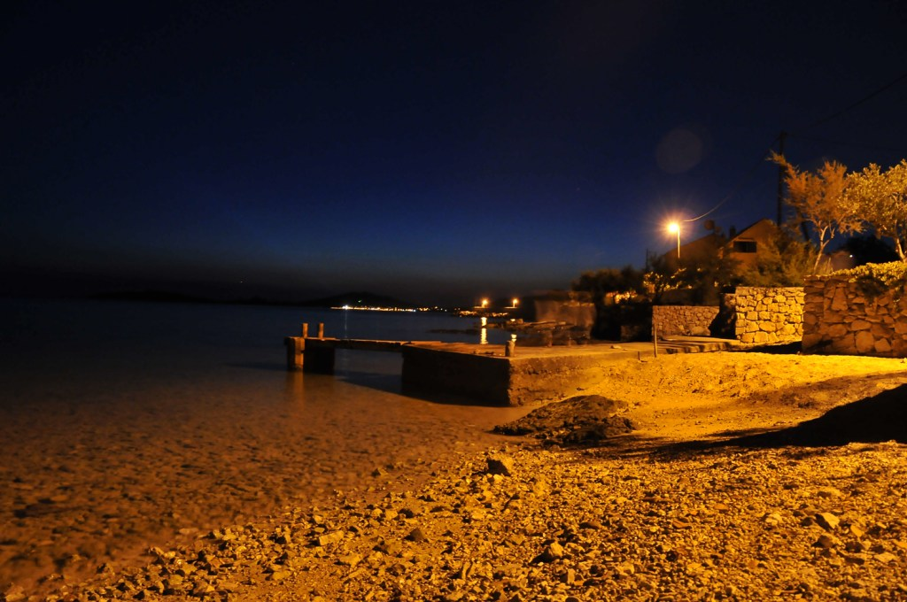 Prvic coast at night