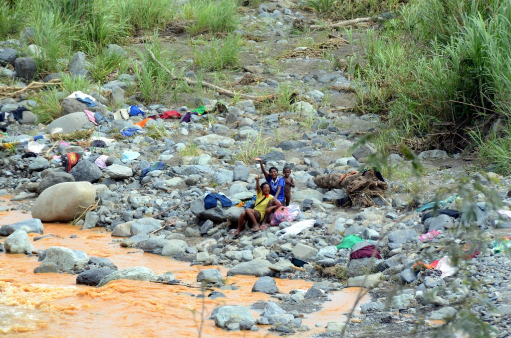 Kids at the river in Papua New Guinea