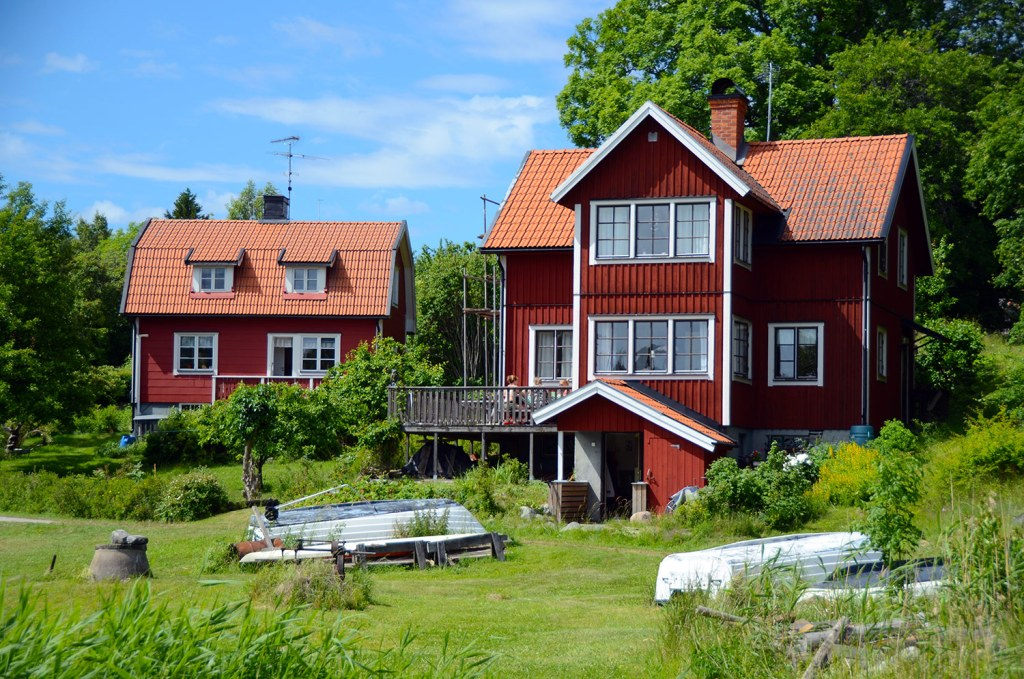 Swedish red houses
