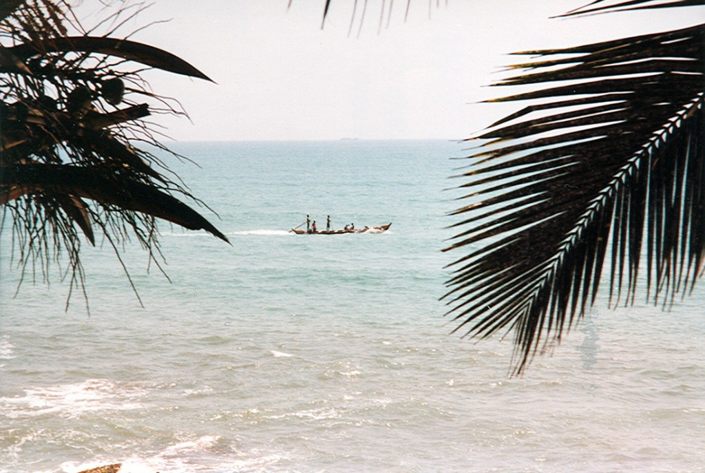 At sea on the gold coast in Ghana 1997