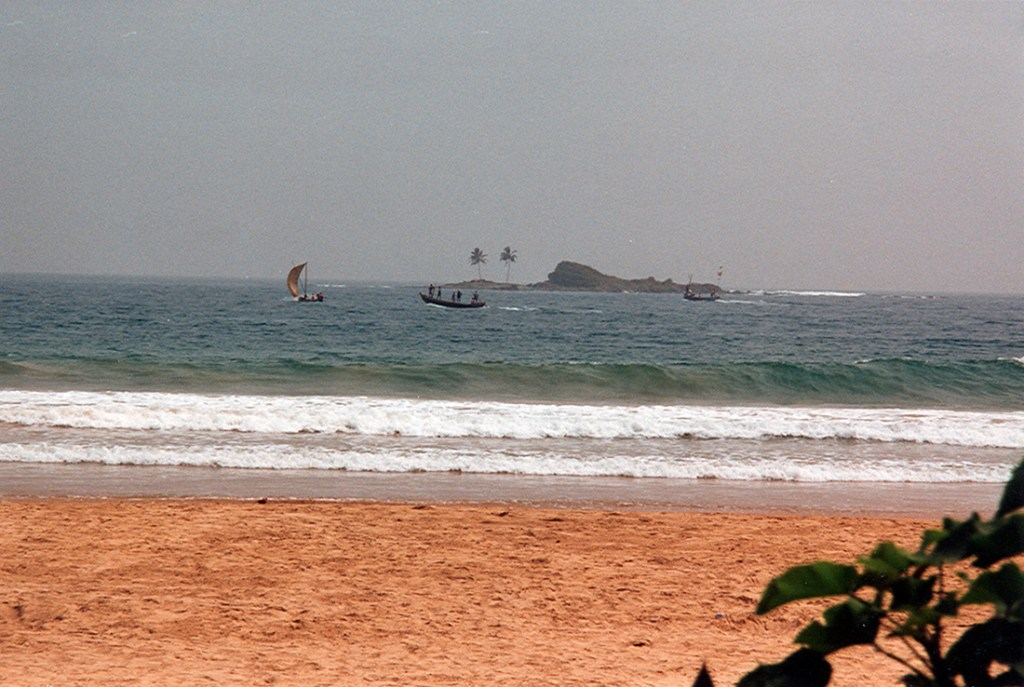 Beach on the gold coast in Ghana 1997