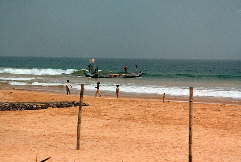 Fishermen on the gold coast in Ghana 1997