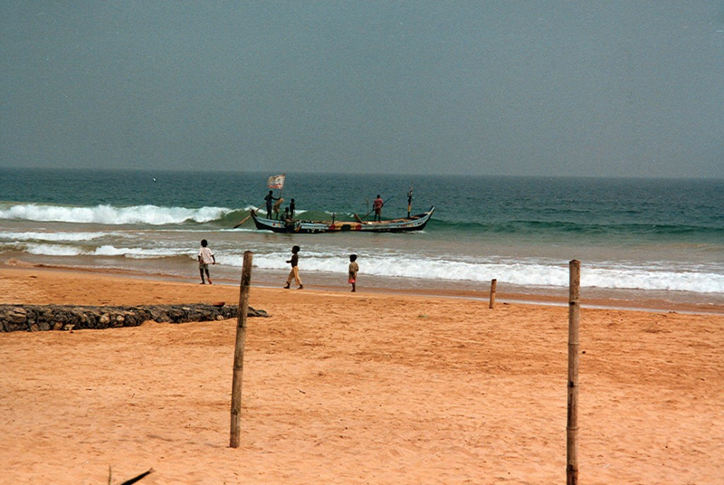Fishermen on the gold coast in Ghana 1997