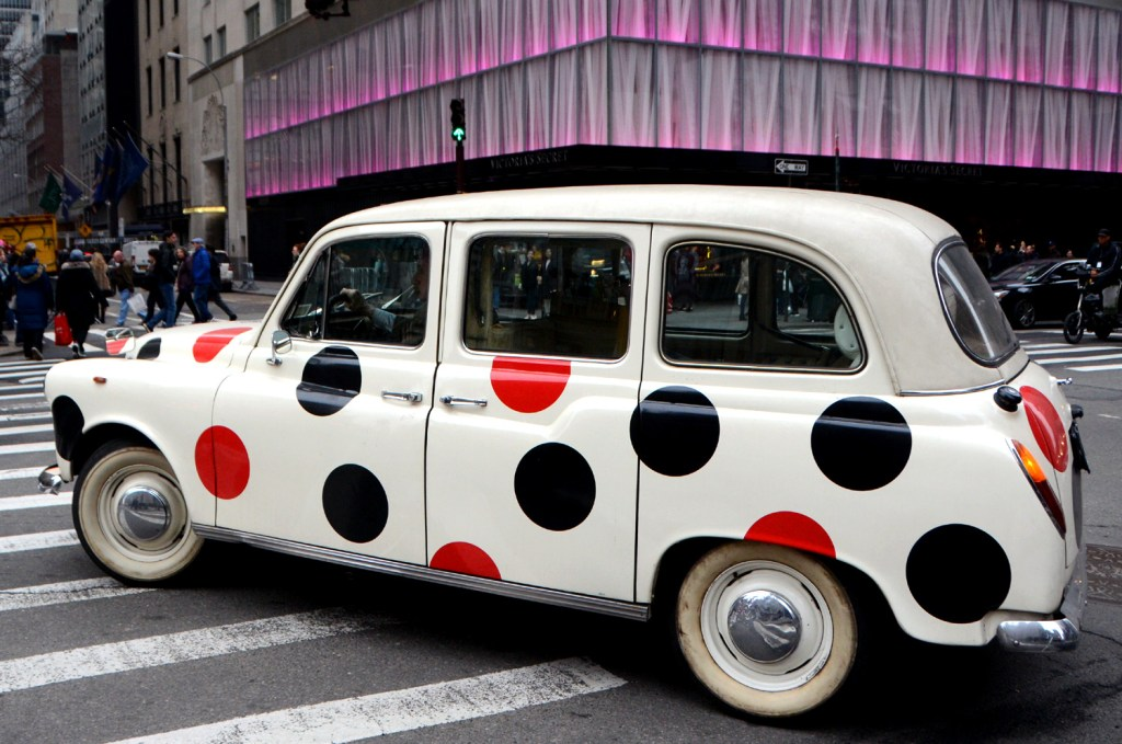 car-with-red-and-black-dots