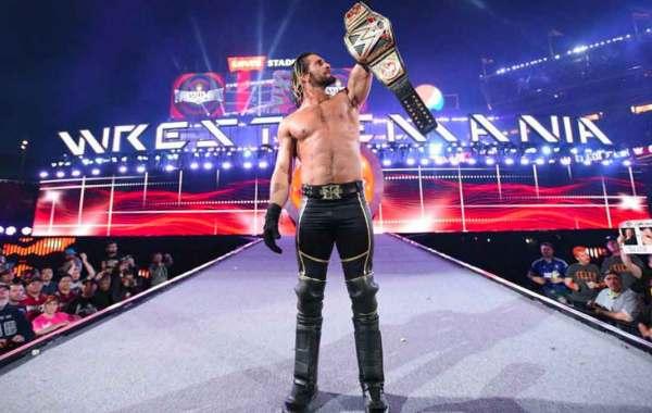 Seth Rollins WWE Champion at WrestleMania