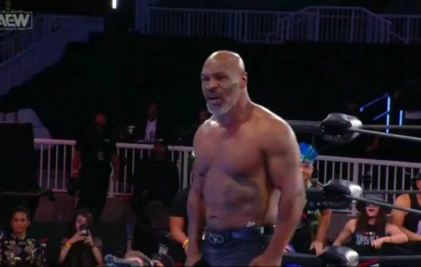 """Iron"" Mike Tyson. Photo Credit: All Elite Wrestling."