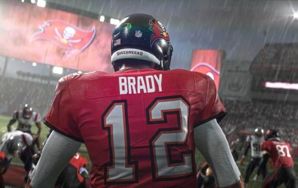 Tampa Bay Buccaneers QB Tom Brady in Madden 21