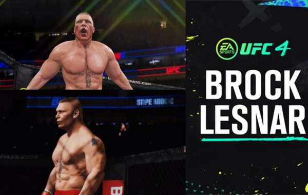 Brock Lesnar in EA Sports UFC 4 on Xbox One and PS4.