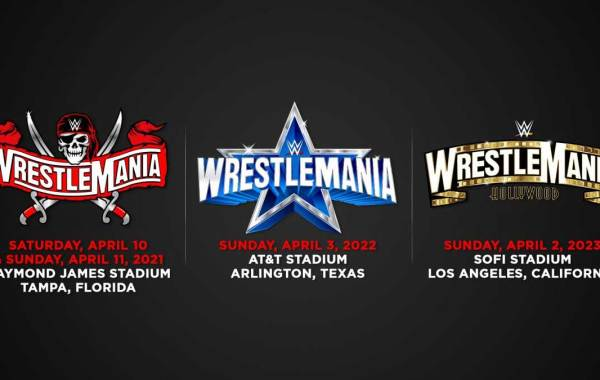 WWE WrestleMania Schedule 37 to 39