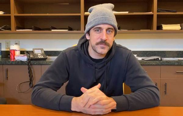 Green Bay Packers quarterback Aaron Rodgers. Courtesy of Packers and NFL Communications.