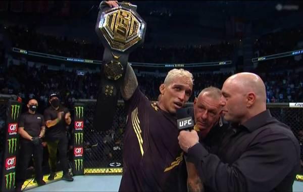 UFC lightweight champion Charles Oliveira. Courtesy of UFC / ESPN+.