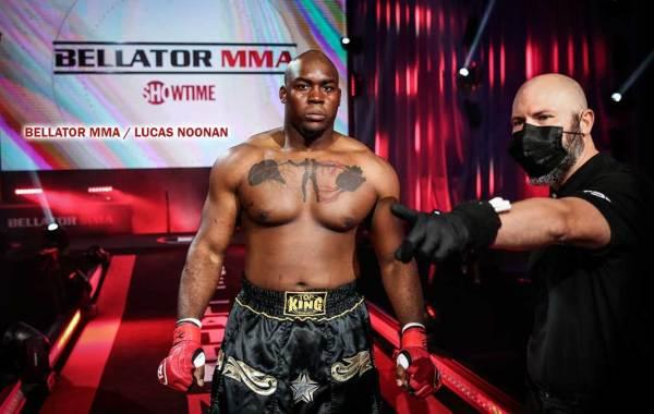 Bellator fighter Davion Franklin. Courtesy of Bellator MMA / Lucas Noonan.