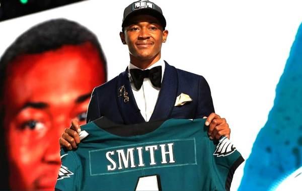 Philadelphia Eagles wide receiver DeVonta Smith. Courtesy of Philadelphia Eagles/NFL.
