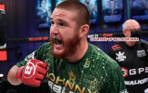 Bellator MMA fighter Johnny Eblen. Courtesy of Lucas Noonan / Bellator MMA.