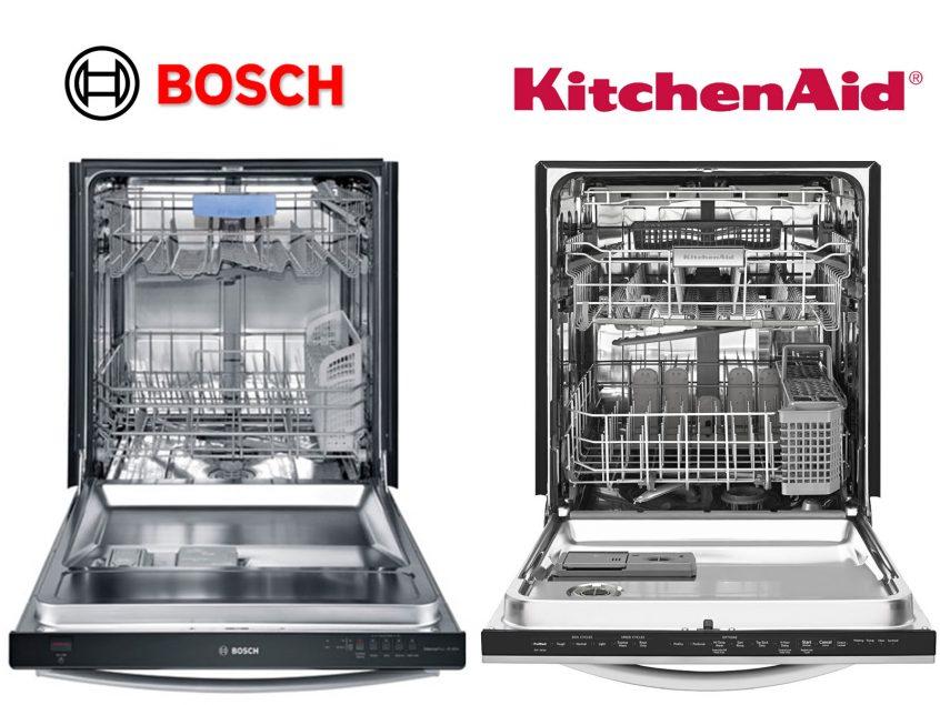 Comparing KitchenAid Dishwashers To Bosch Dishwashers