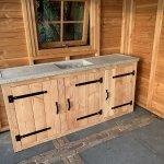 Outdoor Kuche Aus Holz Selber Bauen Inklusive Eingebautem Grill Oder Kochfeld