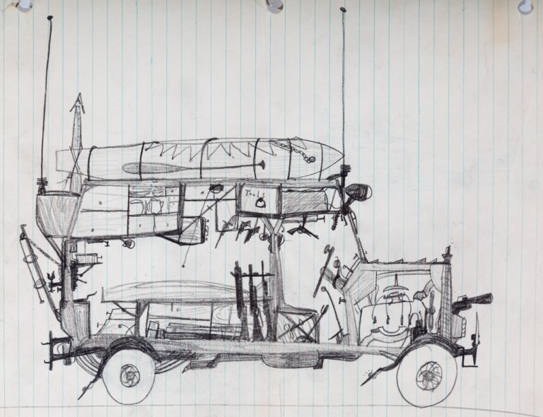 Frank Bruno childhood drawings, ca 1930