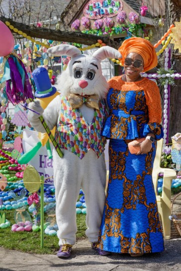 Peter Cottontail with Steve Kaselak's neighbor